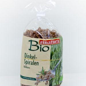 Paste spirale din grau spelta integral BIO 250g - Rinatura