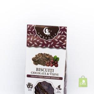 Biscuiti vegani cu ciocolata si visine 150g - Ambrozia