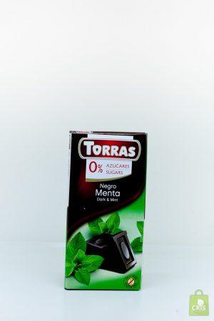 Ciocolata neagra cu menta 75g - Torras