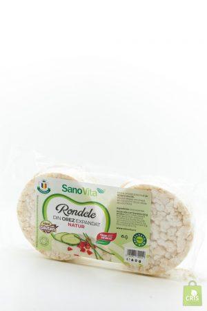 Rondele din orez expandat natur 80g - Sano Vita