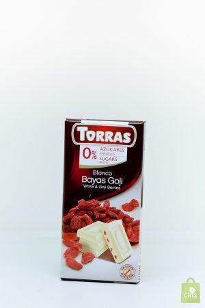 Ciocolata alba cu goji 75g - Torras