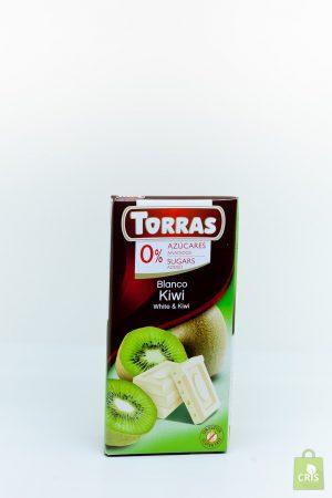 Ciocolata alba cu kiwi 75g - Torras