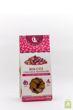 Biscuiti vegani cu coacaze si trandafiri 150g - Ambrozia