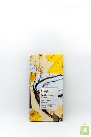 Ciocolata alba cu mango , cocos si iaurt Eco 80g - Vivani