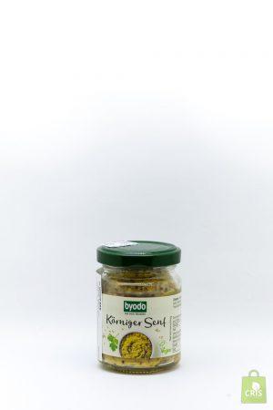 Mustar mediu cu boabe de mustar eco 125ml - Byodo