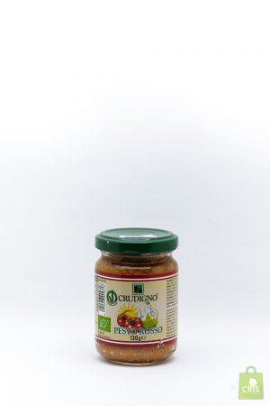 Pesto rosu vegan eco 130g - Crudigno